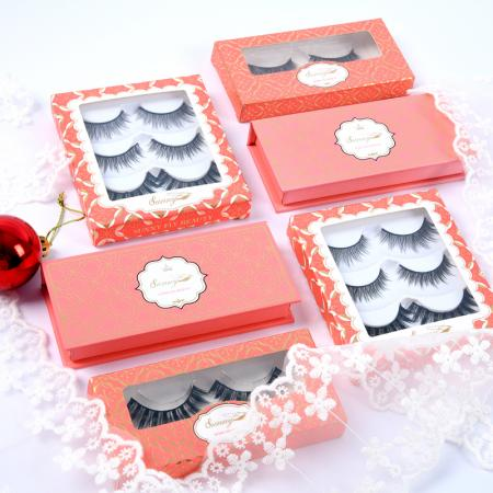 3d mink eyelashes packaging boxes supplier
