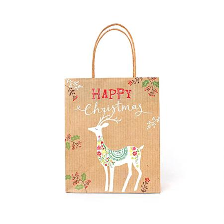 Wholesale Christmas Craft Paper Packaging Tote Bag