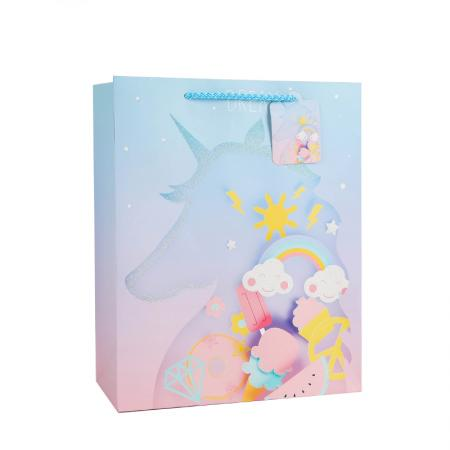 Merry Christmas paper gift bag with handles wholesale