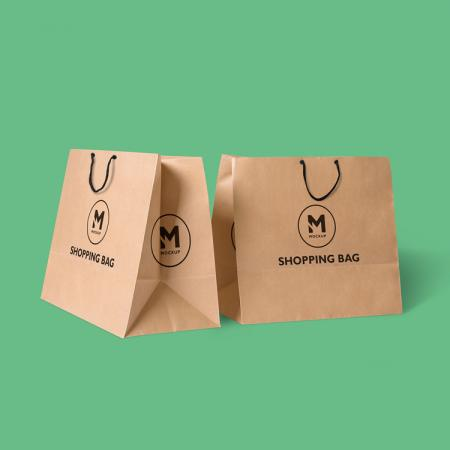customized printing design gift paper shopping bags with handle